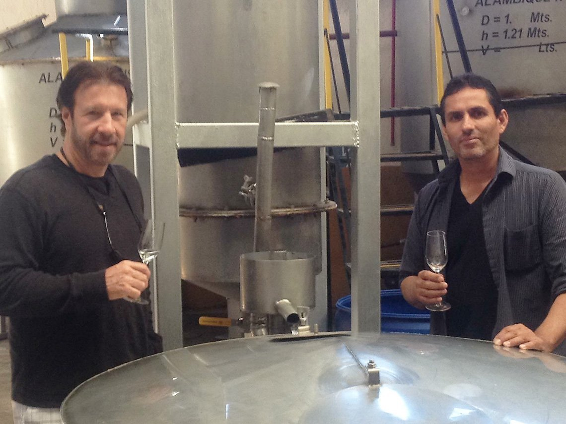 Tequila John Atanasio and Ruben Rodriguez in the Tattoo Tequila distillery