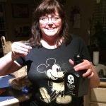 Tattoo Tequila Fan wearing a Mickey Mouse T Shirt